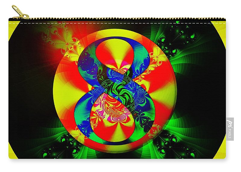 Fractal Art Carry-all Pouch featuring the digital art Most Likely by Elizabeth McTaggart