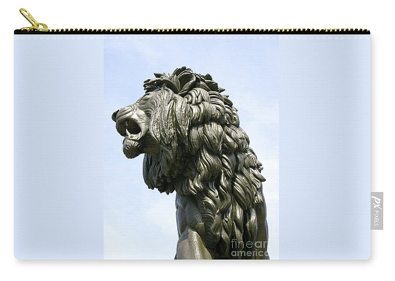 Statue Carry-all Pouch featuring the photograph Mostly Mane by Ann Horn