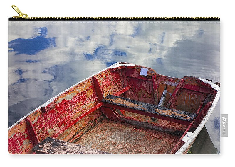 Rockport Carry-all Pouch featuring the photograph Mostly Orange Dingy by David Stone