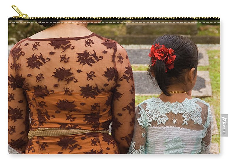Indonesia Carry-all Pouch featuring the photograph Mother And Daughter by Rick Piper Photography