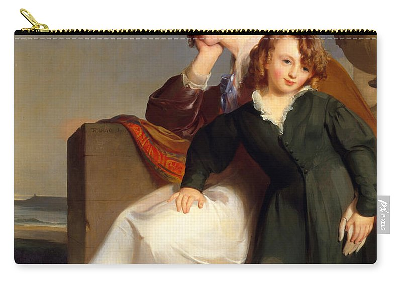 Thomas Sully Carry-all Pouch featuring the painting Mother And Son by Thomas Sully