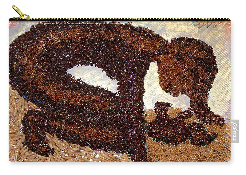 Mother And Child Carry-all Pouch featuring the mixed media Mother Earth I by Naomi Gerrard