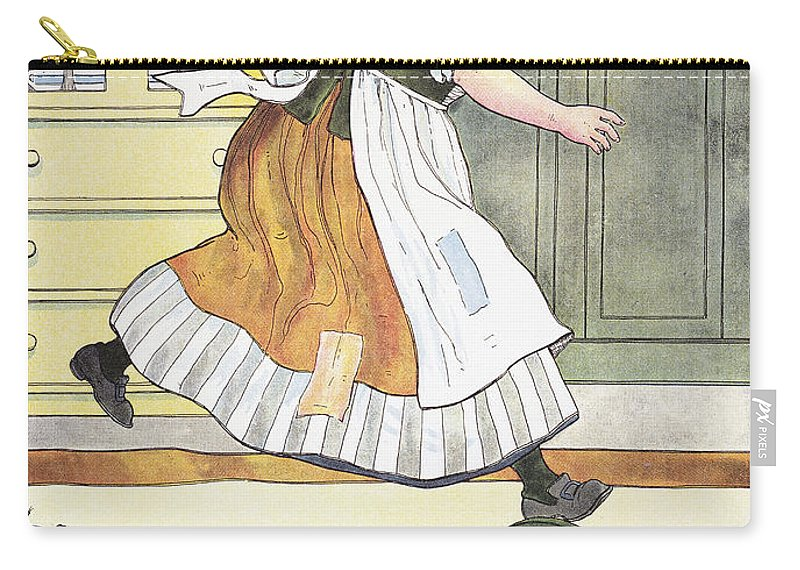 1916 Carry-all Pouch featuring the photograph Mother Goose, 1916 by Granger