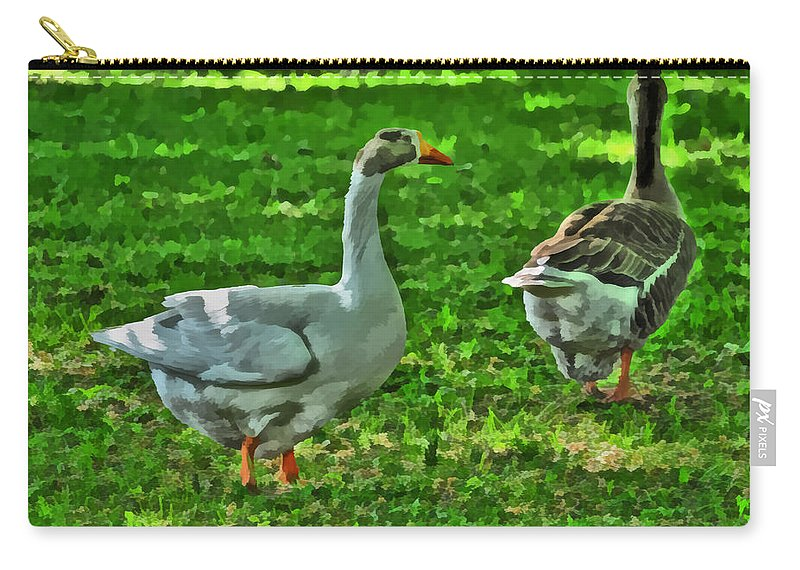 Goose Carry-all Pouch featuring the photograph Mother Goose by Michael Frank Jr