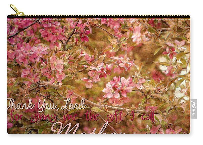 Carry-all Pouch featuring the digital art Mother by Michelle Greene Wheeler