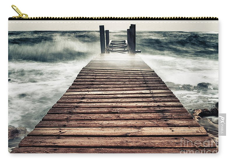 Atlantic Carry-all Pouch featuring the photograph Mother Nature by Stelios Kleanthous