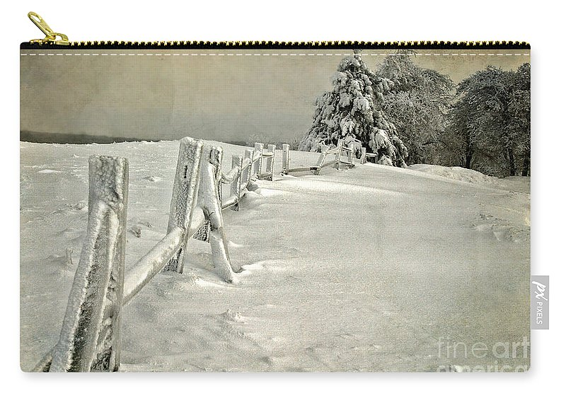 Snow Carry-all Pouch featuring the photograph Mother Nature's Christmas Tree by Lois Bryan