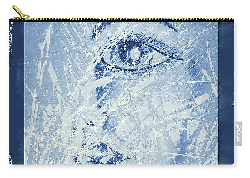 Mother Of Nature Carry-all Pouch featuring the digital art Mother Of Nature by Maria Urso