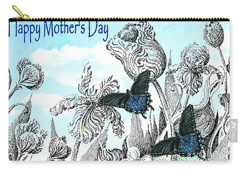 Card Carry-all Pouch featuring the mixed media Mothers Day by Lizi Beard-Ward