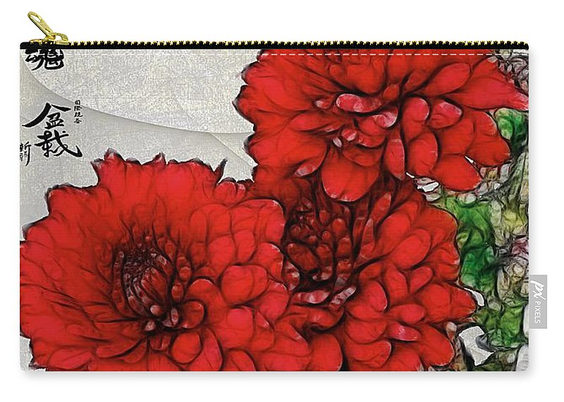 Chrysanthemums Carry-all Pouch featuring the painting Motif Japonica No. 7 by RC DeWinter
