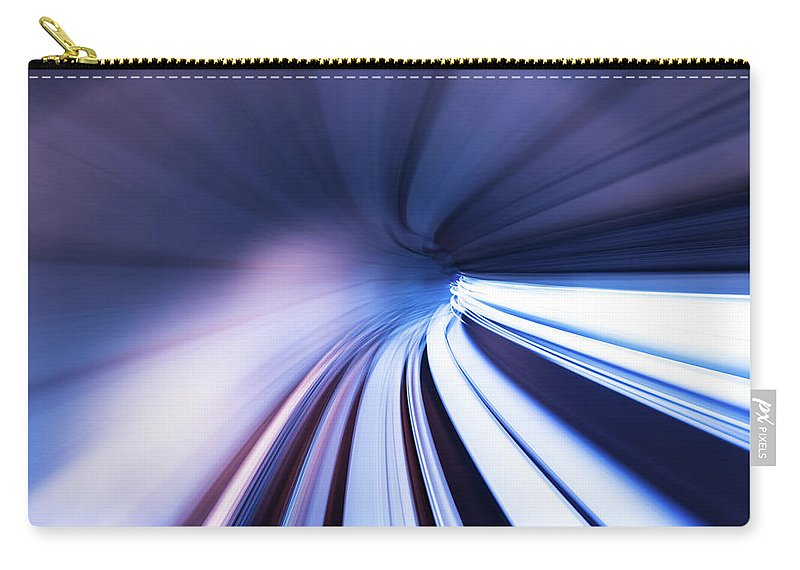 Curve Carry-all Pouch featuring the photograph Motion Tunnel by Loveguli