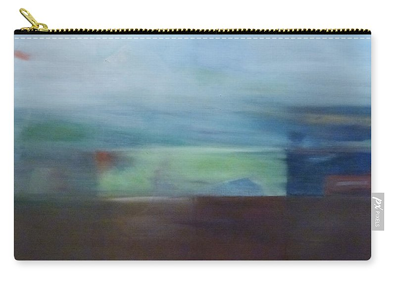 Abstract Landscape Carry-all Pouch featuring the painting Motion Window by Barbara Oertli