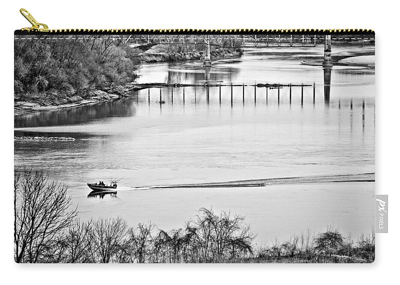 River Carry-all Pouch featuring the photograph Motorboat Ride by Sennie Pierson