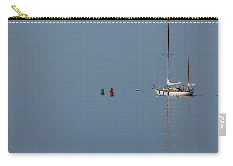 Sailboat Carry-all Pouch featuring the photograph Motoring Sail by Karol Livote