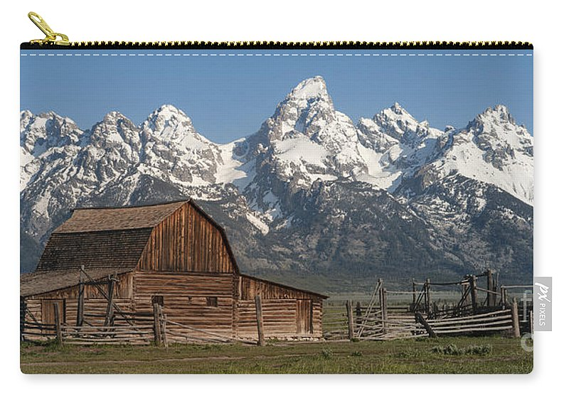 Grand Teton Carry-all Pouch featuring the photograph Moulton Barn - Grand Tetons I by Sandra Bronstein