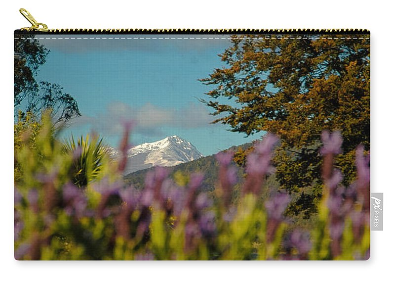 Blue Carry-all Pouch featuring the photograph Mount Cook by Mark Llewellyn