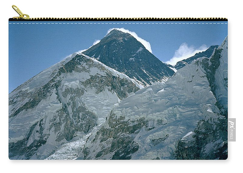 Mount Everest Carry-all Pouch featuring the photograph Mount Everest Morning by Shaun Higson