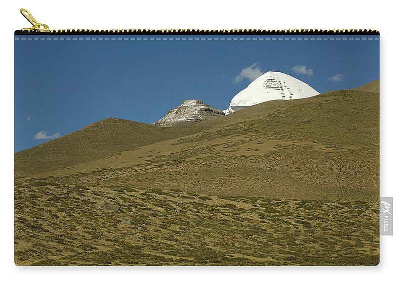 Chinese Culture Carry-all Pouch featuring the photograph Mount Kailash by Tanukiphoto