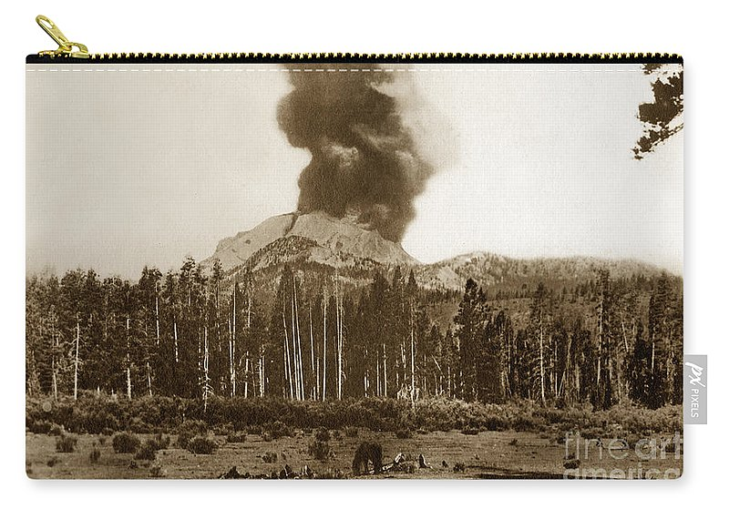 Mount Lassen Carry-all Pouch featuring the photograph Mount Lassen Volcano California 1914 by California Views Archives Mr Pat Hathaway Archives