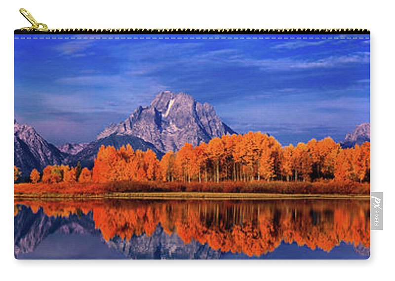 Grand Tetons National Park Carry-all Pouch featuring the photograph Mount Moran And Fall Color Grand Tetons by Dave Welling