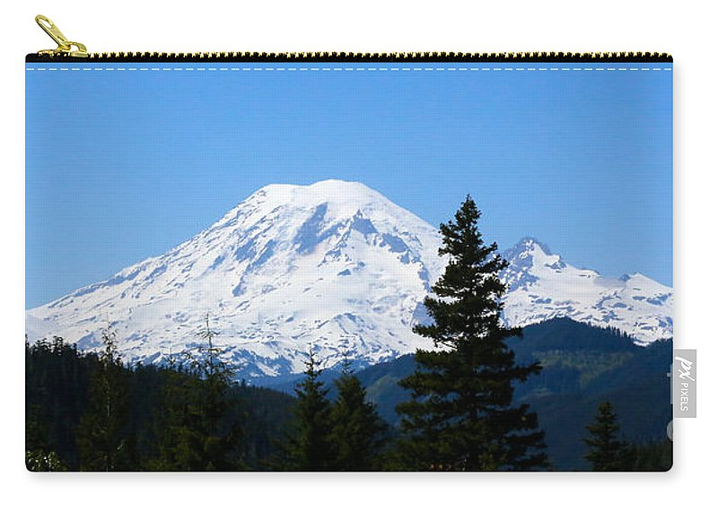 Mount Rainier Carry-all Pouch featuring the photograph Mount Rainier Panorama by Carol Groenen
