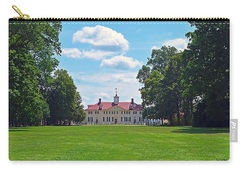 Mt Vernon Carry-all Pouch featuring the photograph Mount Vernon Estate by Shanna Hyatt