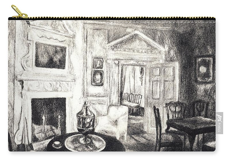 Kendall Kessler Carry-all Pouch featuring the drawing Mount Vernon Original by Kendall Kessler