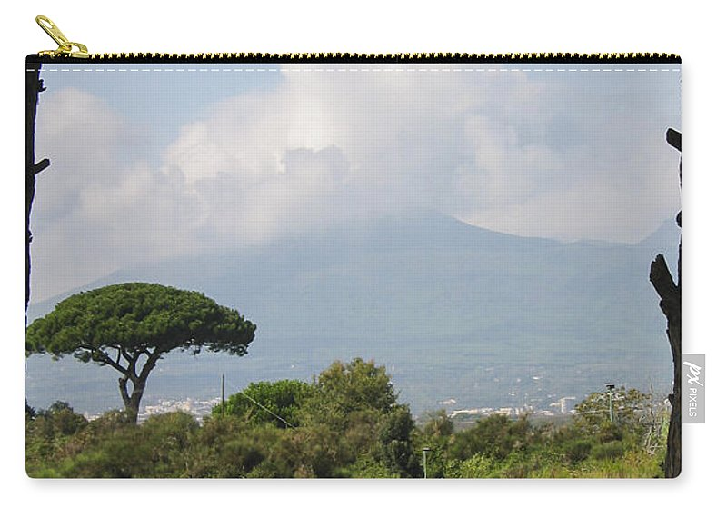 3scape Carry-all Pouch featuring the photograph Mount Vesuvius by Adam Romanowicz