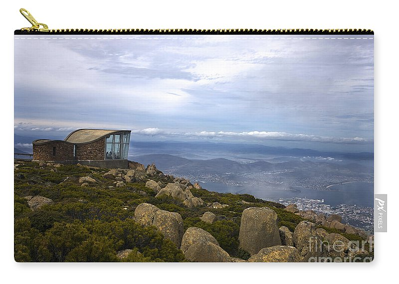 Travel Carry-all Pouch featuring the photograph Mount Wellington Tasmania by Jason O Watson