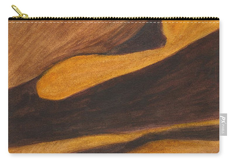 Mountain Carry-all Pouch featuring the painting Mountain Abstract by Phyllis Brady