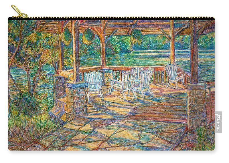 Lake Carry-all Pouch featuring the painting Mountain Lake Shadows by Kendall Kessler