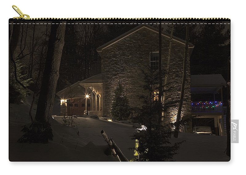 Lodge Carry-all Pouch featuring the photograph Mountain Lodge by John Stephens