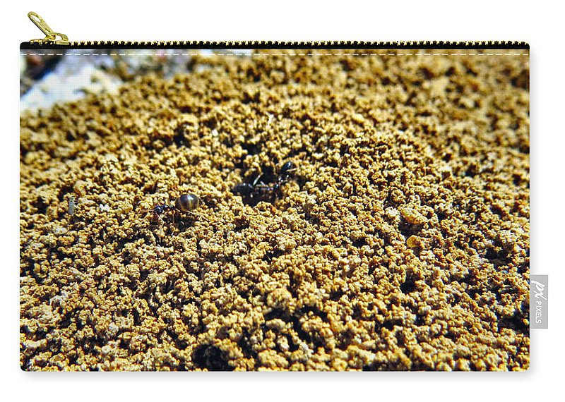 Ant Carry-all Pouch featuring the photograph Mountain Out Of An Anthill by Art Dingo