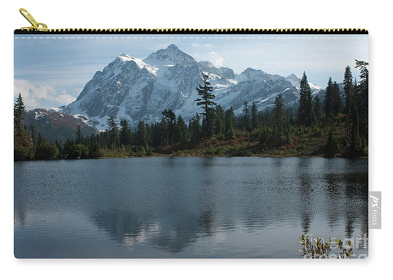 Mountain Carry-all Pouch featuring the photograph Mountain Reflection by Rod Wiens