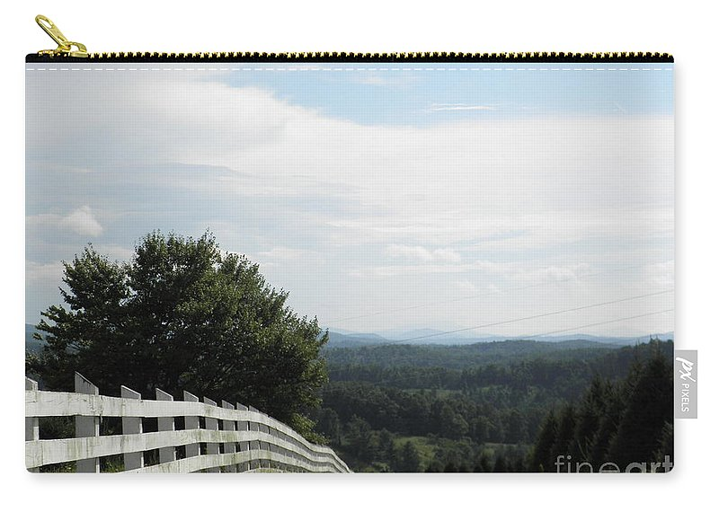 North Carolina Carry-all Pouch featuring the photograph Mountain Road by Valerie Reeves