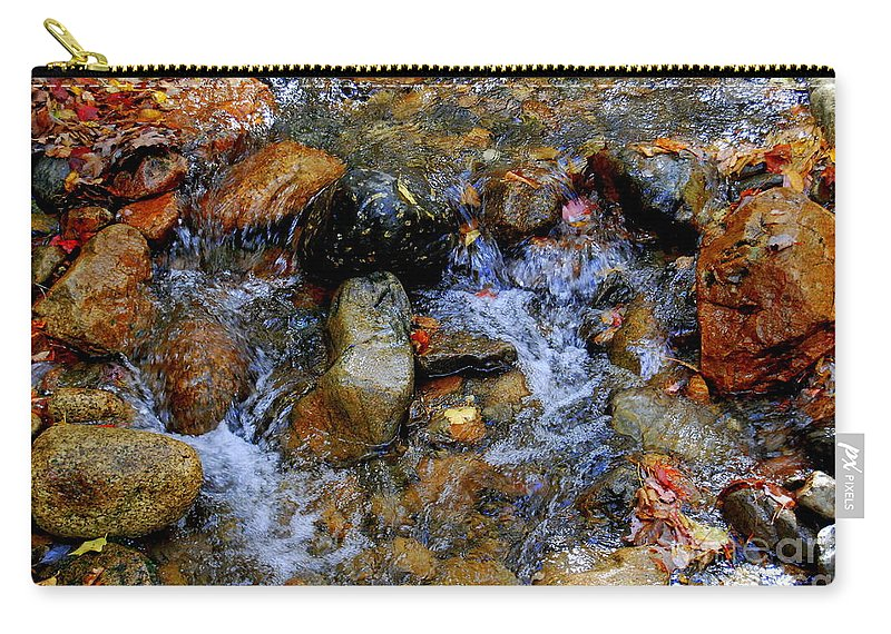 Water Carry-all Pouch featuring the photograph Mountain Stream In Autumn by Eunice Miller