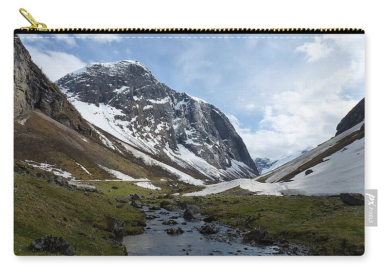 Carry-all Pouch featuring the photograph Mountain Stream by Katerina Naumenko