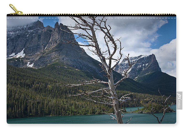 Art Carry-all Pouch featuring the photograph Mountain View At Glacier National Park by Randall Nyhof