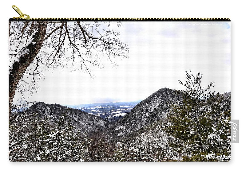 Mountain View Carry-all Pouch featuring the photograph Mountain View by Todd Hostetter