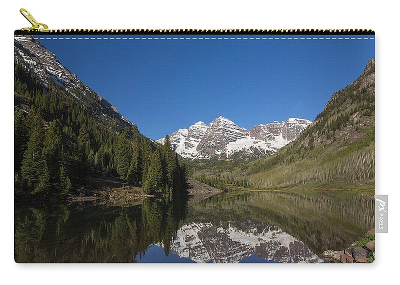 Maroon Carry-all Pouch featuring the photograph Mountains Co Maroon Bells 12 by John Brueske