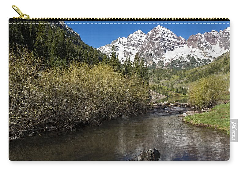Maroon Carry-all Pouch featuring the photograph Mountains Co Maroon Bells 14 by John Brueske