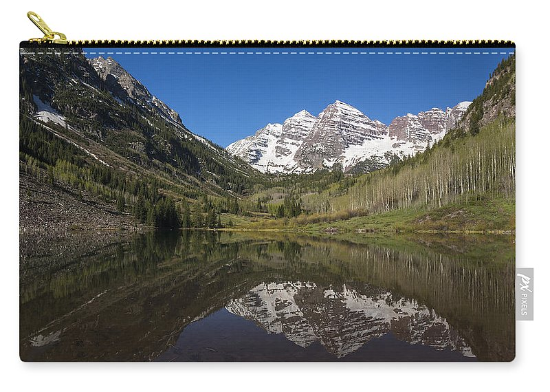 Maroon Carry-all Pouch featuring the photograph Mountains Co Maroon Bells 16 by John Brueske