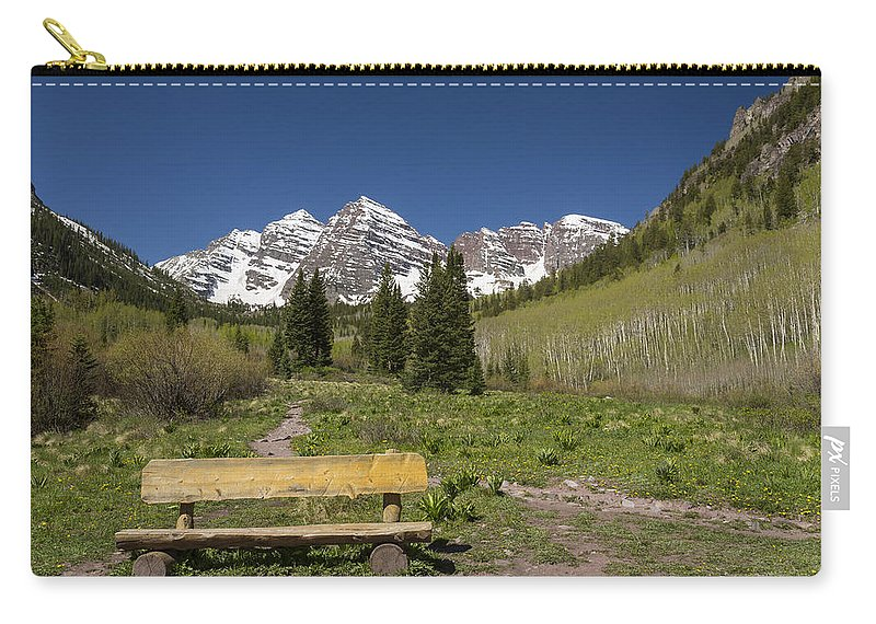 Maroon Carry-all Pouch featuring the photograph Mountains Co Maroon Bells 24 by John Brueske