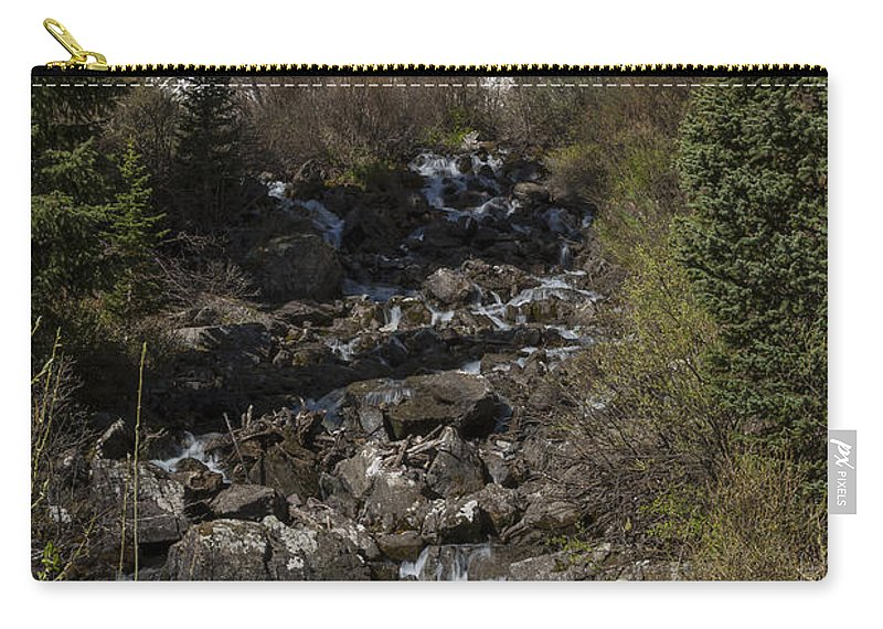 Maroon Carry-all Pouch featuring the photograph Mountains Co Maroon Creek 2 by John Brueske