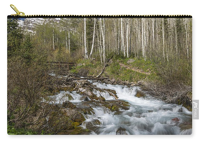 Maroon Carry-all Pouch featuring the photograph Mountains Co Maroon Creek 4 by John Brueske