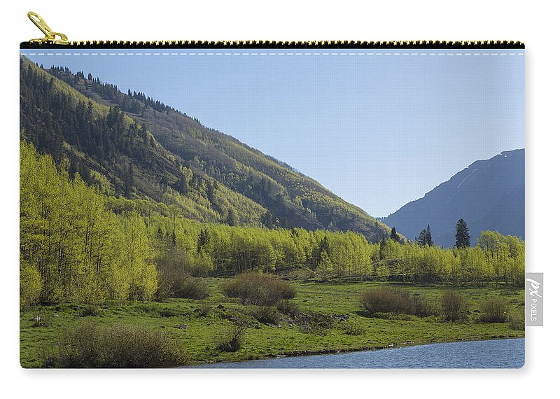 Maroon Carry-all Pouch featuring the photograph Mountains Co Maroon Lake 2 by John Brueske