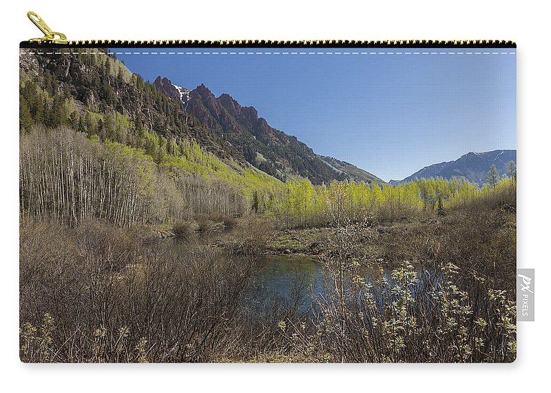 Sievers Carry-all Pouch featuring the photograph Mountains Co Sievers 3 by John Brueske