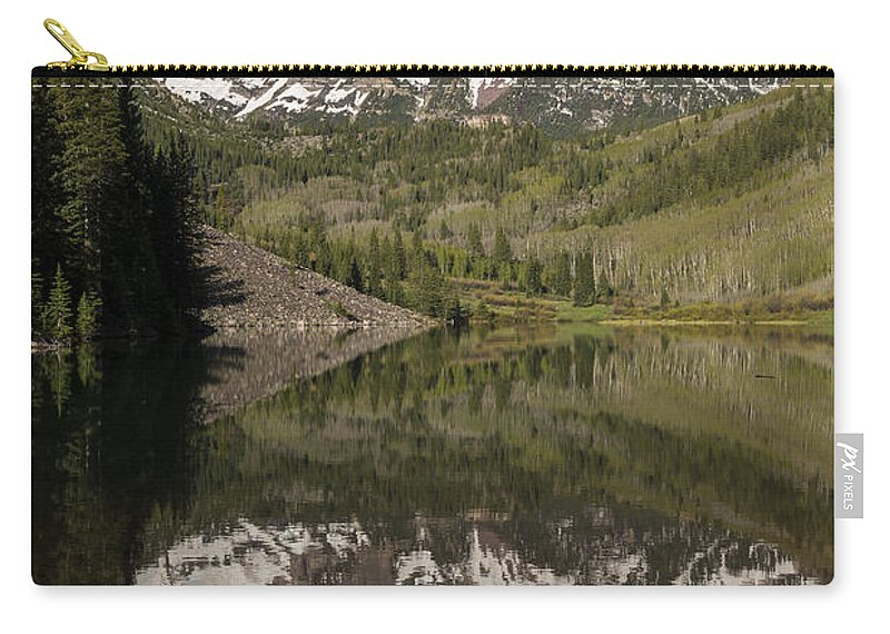 Maroon Carry-all Pouch featuring the photograph Mountains Maroon Bells 11 by John Brueske