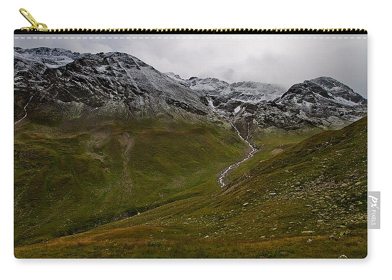 Mountain Carry-all Pouch featuring the photograph Mountainscape With Snow by Roberto Pagani