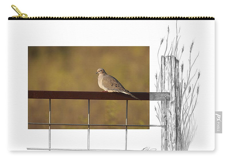Mourning Dove Carry-all Pouch featuring the photograph Mourning Dove by Andrew McInnes